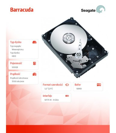 Seagate Barracuda ST500DM002 500GB 3.5'' SATAIII 16MB  7200rpm