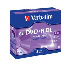 Verbatim DVD+R (8x) 8.5GB  DoubleLayer 5P JC 43541