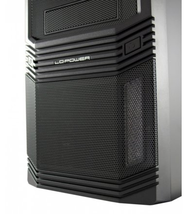 LC-POWER OBUDOWA CASE-PRO-925B MIDITOWER/2xUSB 2.0/1xUSB 3.0/CZARNA/HD-AUDIO/ 600W LC600H-12