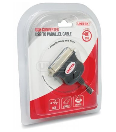 Unitek Adapter USB to kabel do drukarki; Y-120