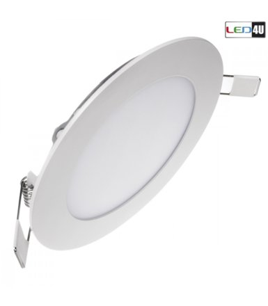 Maclean Panel LED sufitowy podtynkowy slim 6W Warm white 2800-3200K Led4U LD151W Fi120*H20mm