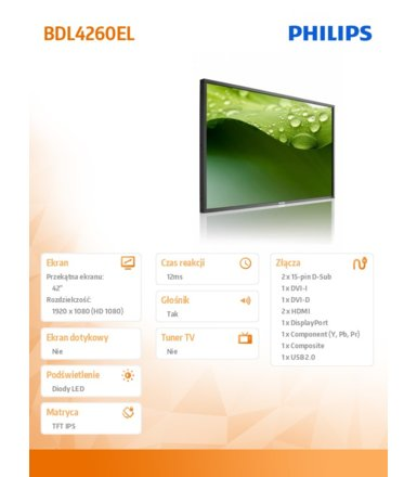 Philips 42'' BDL4260EL LED Public Display