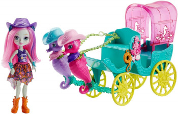 Mattel ENCHANTIMALS Seahorse Carriage Sandella
